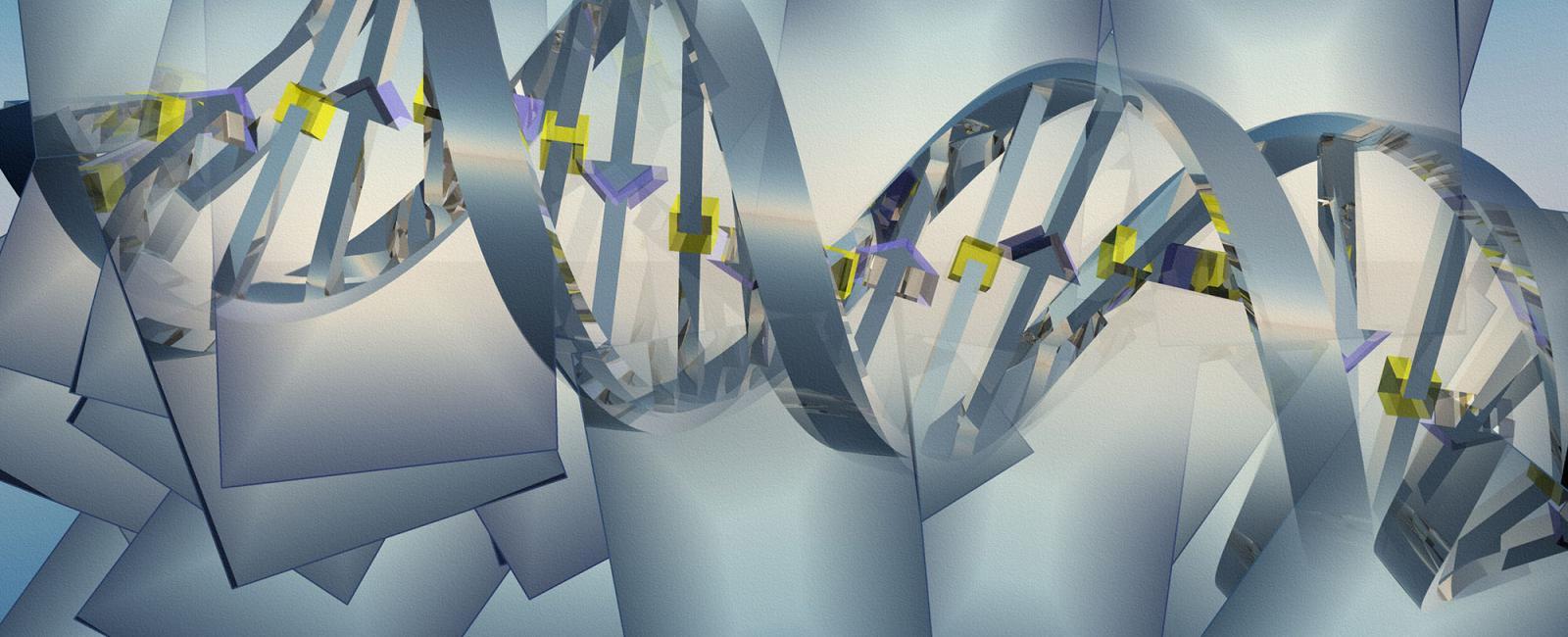 Art rendering of DNA