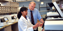 Dr. Richard Gibbs and colleague